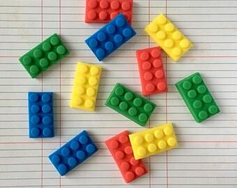 12 piece fondant lego bricks