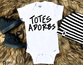 90d26631c Totes Adorbs, Funny Baby Onesie, Baby Onesie, Baby Shower Gift, Funny Baby  Gift, Baby Boy, Baby Gir Onesiel, Newborn Onesie, Funny Gift