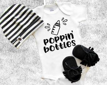Baby Onesie® Poppin' Bottles Baby Shower Gift Funny Onesie®, Cool Newborn onesie®, Baby Girl Baby Boy Birthday gift Cool Onesie®, Toddler