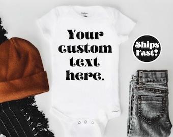 Customizable Onesie® Baby Shower Gift Infant Onesie®, Bodysuit Baby Boy Baby Girl Custom Onesie® Newborn Onesie® Custom shirt