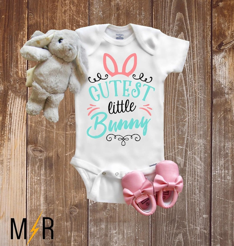 7acb87150 Easter Onesie® Baby Onesie® Cutest little Bunny Baby girl | Etsy