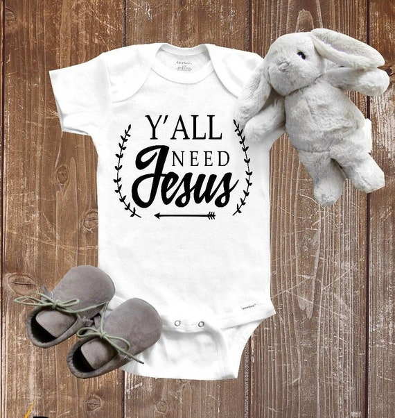 bdc8b75151bb9 Pregnancy Announcement Onesie®, Y'all need Jesus, Baby Onesie® Baby Shower  Gift, Gender Reveal, New Parents, Jesus Onesie