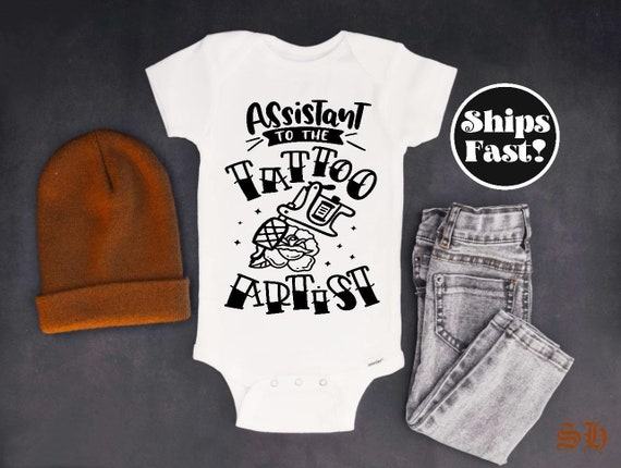 Baby Onesie\u00a9 My Aunt or Uncle Is Inked And Awesome Tattoos Tattoo Artist Studio New Parents Baby Shower Gift Gerber\u00a9 2 Options Aunt or Uncle