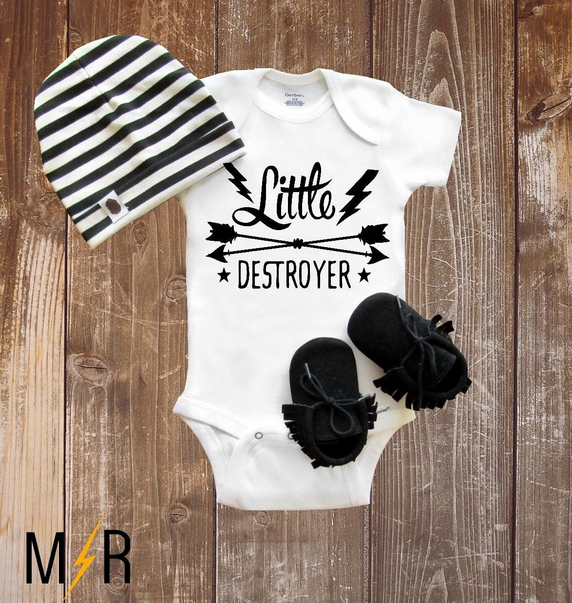 43e0daad Baby Onesie® Little Destroyer Funny Onesie® Baby shower | Etsy