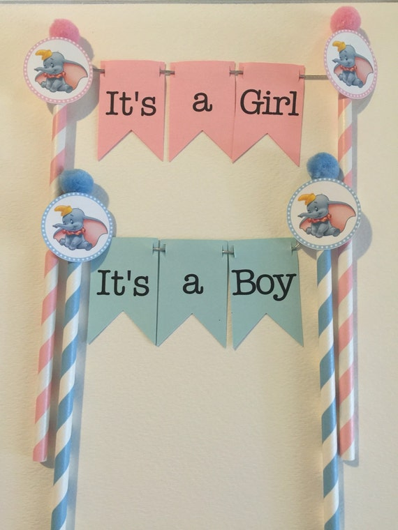 Dumbo Baby Shower Cake topper It\'s a Boy It\'s a | Etsy