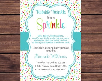 sprinkled with love baby sprinkle invitations girl boy gender etsy
