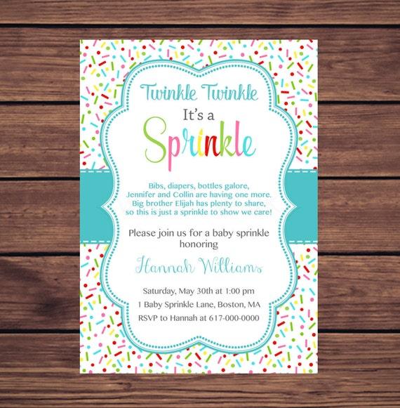 baby sprinkle invitation boy sprinkles teal aqua baby boy sprinkle