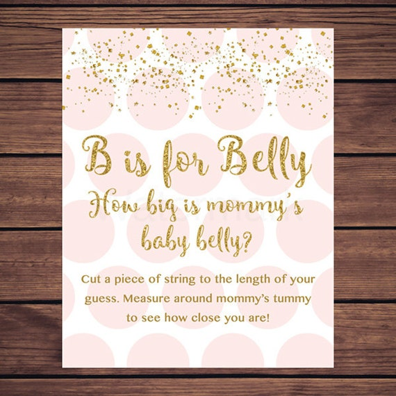 photo regarding How Big is Mommy's Belly Free Printable titled Crimson and Gold How Significant is Mommys Abdomen, B is for Tummy Video game