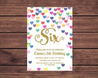 Heart invitations Etsy