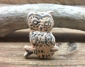 Owl Knob - Distressed Peach Owl Drawer Pull - Cabinet Knob - Furniture Hardware Drawer Pull - Decorative Knob - Bird Owl Nursery Decor
