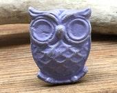 Lilac Owl Knob - Antique Bronze Owl Drawer Pull - Cabinet Knob - Furniture Hardware Drawer Pull - Decorative Knob - Bird Owl Nursery Decor