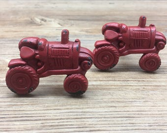 FOUR FARM TRACTOR  HOME DECOR CERAMIC KITCHEN  KNOBS DRAWER CABINET PULLS
