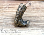Cowboy Boot Cast Iron Knob - Cowgirl Boots Drawer Pulls - Western Rustic Decor - Cowboy Nursery Theme Decorative Knobs