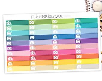 40 Camera Label Stickers, Erin Condren Planner Stickers, Happy Planner Stickers, Camera Stickers, Photography Label Stickers, - L 0008