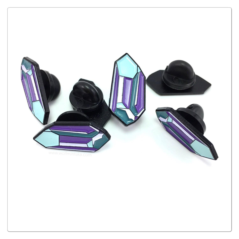 Crystal enamel lapel pin soft enamel pin pin pins lapel | Etsy