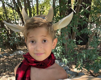 MR. Tumnus headdress ONLY horns and ears ultra lightweight attached to a headband cosplay set Headdress only
