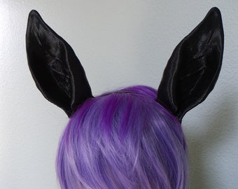 Horse Ears Jackalope Donkey Chihuahua 3d Printed On Headband DIY Costume Black Animal Cosplay Fantasy