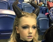 FREE SHIPPING Young Maleficent Inspired 9.5 quot Horns 3D Printed Suitable for kids and adults comic-con