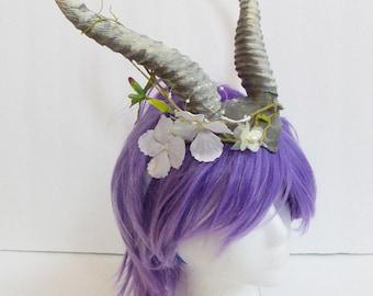 Elvish crown elven horned crown elvish horns Gazelle horns gazelle headband larp comic-con