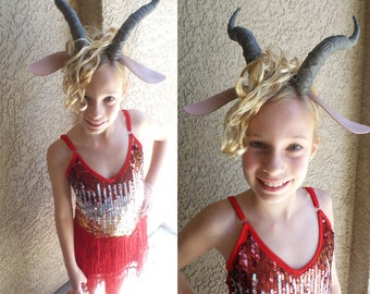 Madam Gazelle costume dress and horned headband with ears