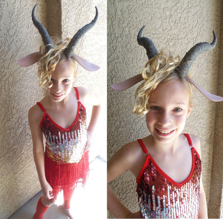 Frau Gazelle Kostüm Kleid gehörnten Stirnband mit roten Ohren   Etsy