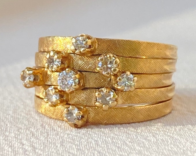 Featured listing image: Incredible Vintage Diamond Harem Ring in 14k Gold