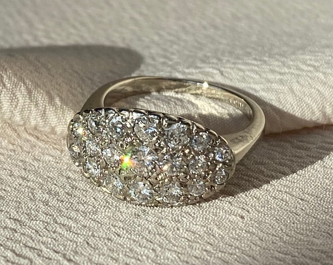 Featured listing image: Blingtastic Vintage Diamond Ring in 14k White Gold- 1 Carat TDW