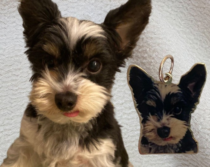 Featured listing image: 14k Custom Pet Photo Outline Charm
