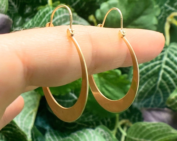 Featured listing image: Awesome Retro Wide Vintage 14k Gold Hoops