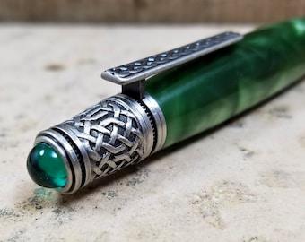 Celtic Pen - Celtic Knot Pen - Emerald Pen - Irish Pen - Irish Knot Pen - Gaelic Pen - Gaelic Knot Pen - Saint Patrick Day Gift - Elvish
