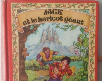 Vintage 1977 Jack book and the Beanstalk giant red and gold collection