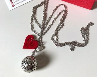 Harmony ball necklace, Angel Caller, Mexican Ball, Mexican bola
