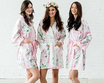 01394a3f4 Personalised Kimono Floral Design, Special Gift, Bride, Bridesmaid Robe,  Wedding Keepsake,Birthday or Christmas Gift