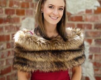 Faux Fur Shrug, fur wrap, wedding shawl, faux fur wrap