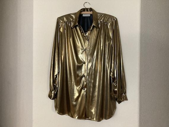 Gold Disco Era Blouse