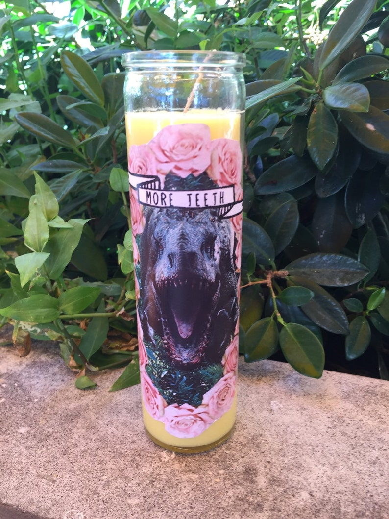 Indominus Rex Prayer Candle Jurassic Candle image 0