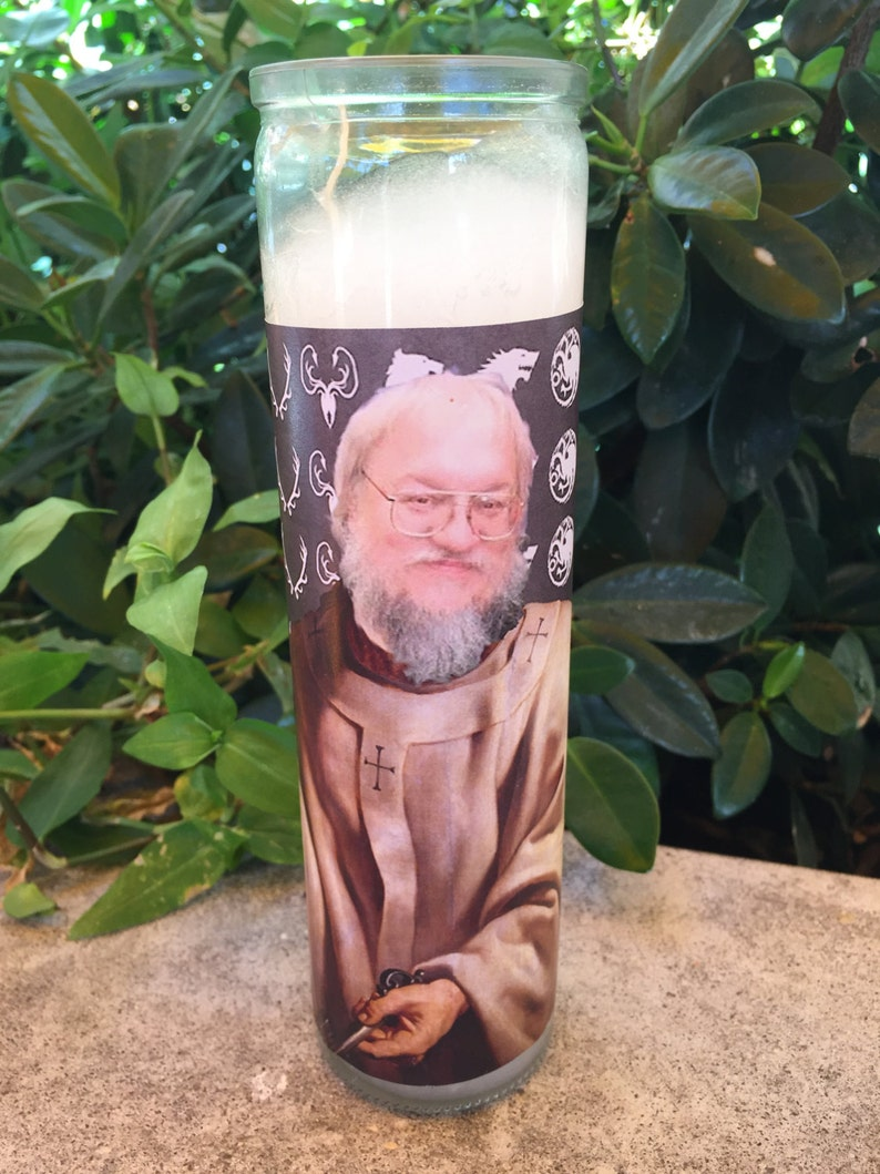 George R.R. Martin Prayer candle GRRM prayer candle funny image 0