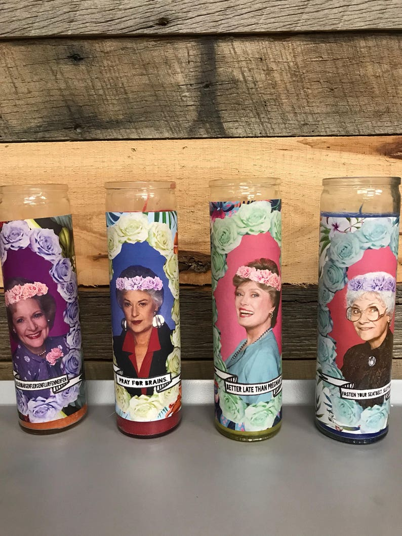 Golden Girls Themed Prayer Candle Funny Prayer Candle image 0