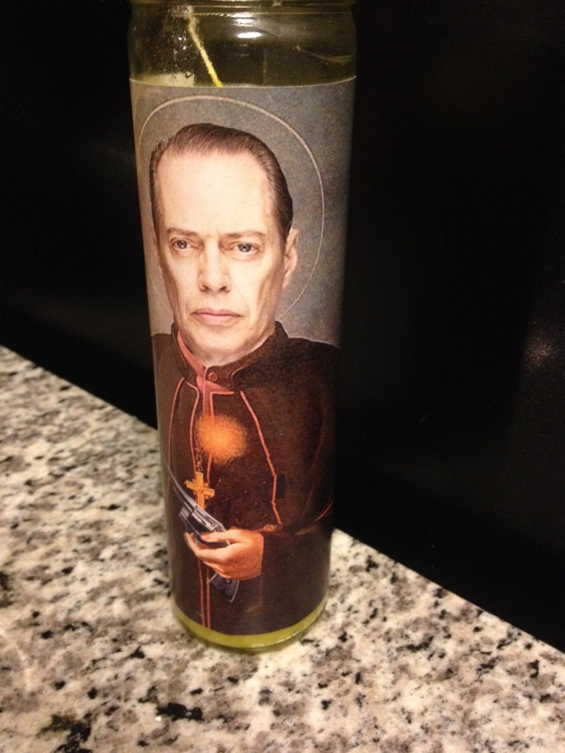 Steve Buscemi Funny Prayer Candle Prayer Candle Funny image 0
