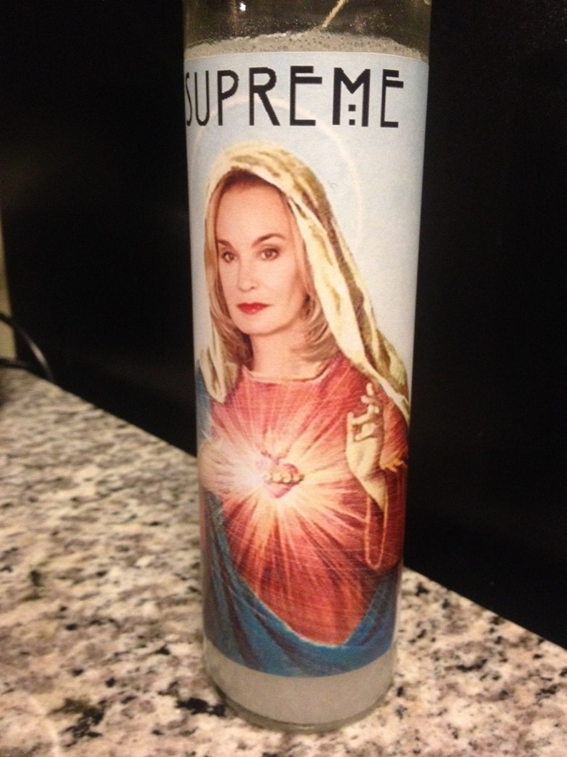 Jessica Lange Prayer Candle Fiona Goode Inspired Funny Prayer image 0