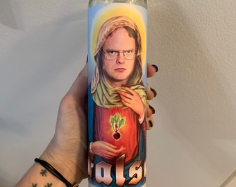 Dwight Schrute Funny Prayer Candle, Office Prayer Candle, Funny Religious Candle, TV Show