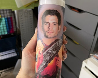Henry Cavill Funny Prayer Candle, joke prayer candle, Actor candle