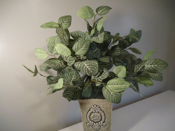 Large silk plant floral bushes greenery artificial floral bush etsy image 0 mightylinksfo