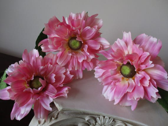3 pink helenium sprays silk flower stems 6 bloom floral etsy image 0 mightylinksfo