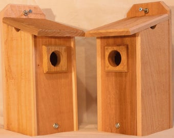 2 Cedar Bluebird Houses Bird Houses