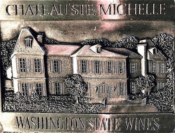 Sale Chateau Ste Michelle vintage collector belt buckle
