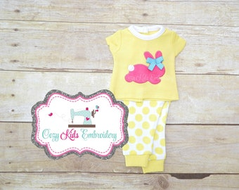 Easter Doll pajamas, Easter doll pj, Spring doll pajamas, spring doll pj, Doll pajamas, doll pj, applique embroidery, doll pjs, dolly, me