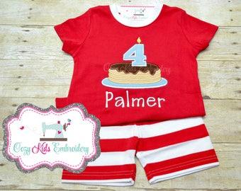 Pancake Pajamas, Birthday Pajamas, Boys Pancake Pajamas, Girl Pajama, Boy Pajama Custom pajama, Pancake, embroidery, applique