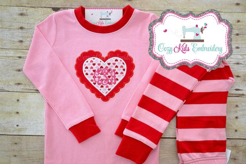 467bafe7322e Valentine s Day pajamas Valentine s Day Pj heart