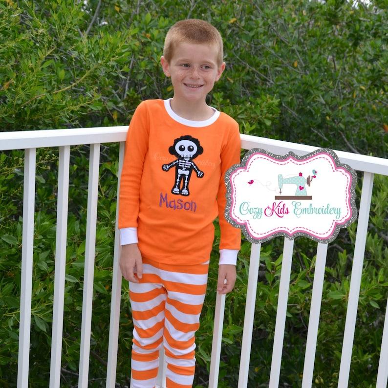 Glow in the Dark Pajama Halloween pajama Halloween pj boy girl kid child toddler infant baby custom personalized mongram fall pajama